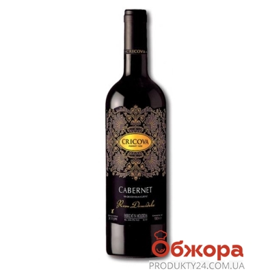 Вино Криково (Cricova) Кружева Каберне красное п/сл 0.75 л – ИМ «Обжора»