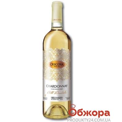 Вино Криково (Cricova) Кружева Шардоне белое п/сл 0.75 л – ИМ «Обжора»