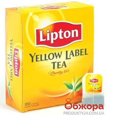 Чай Липтон (Lipton) Yellow Label 100 п – ИМ «Обжора»