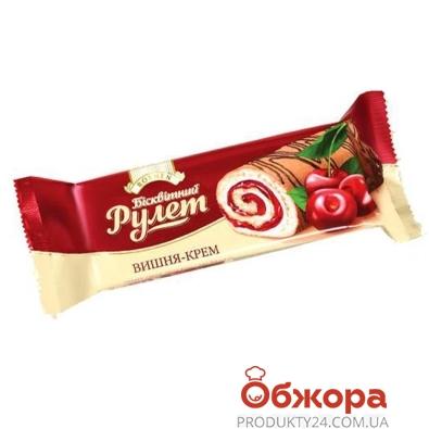 Рулет Рошен (Roshen) вишня-крем 210 г – ИМ «Обжора»