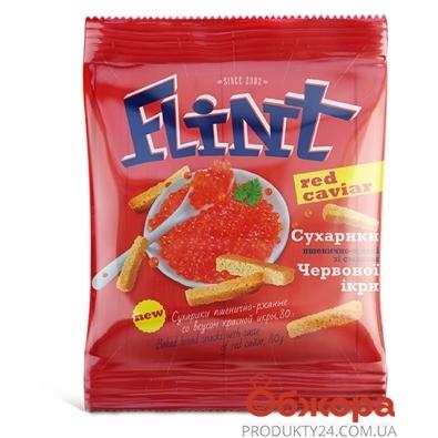 Сухарики Флинт (Flint) Красная икра 80 г – ИМ «Обжора»