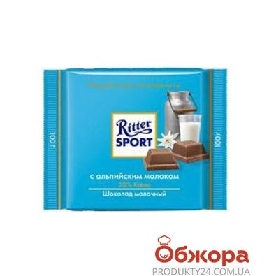 "Шоколад Риттер ""Альпенмилк"" 100 гр. – ИМ «Обжора»"