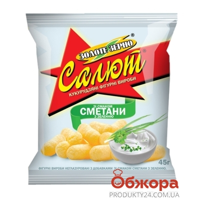 Кукурузные палочки Салют Золотое зерно сметана 45 г – ИМ «Обжора»