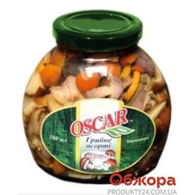 Опята Оскар Ассорти маринованные 580 г – ИМ «Обжора»