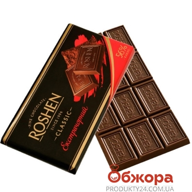 Шоколад Рошен (Roshen) экстра-черный 100 г – ИМ «Обжора»