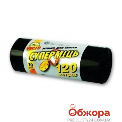 Мешки для мусора Супер Экопласт Чисто 70*110 120 л. 10 шт. – ИМ «Обжора»
