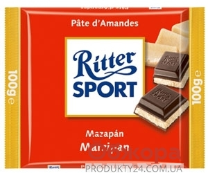 Шоколад Риттер марципан 100 г – ИМ «Обжора»