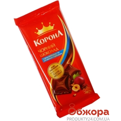 Шоколад Корона черный изюм орех 100 гр. – ИМ «Обжора»