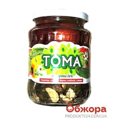 Ассорти №6 Тома огурец, помидор, перец 0,72 л – ИМ «Обжора»