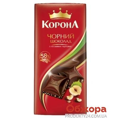 Шоколад Корона черный с орехом 100 гр. – ИМ «Обжора»