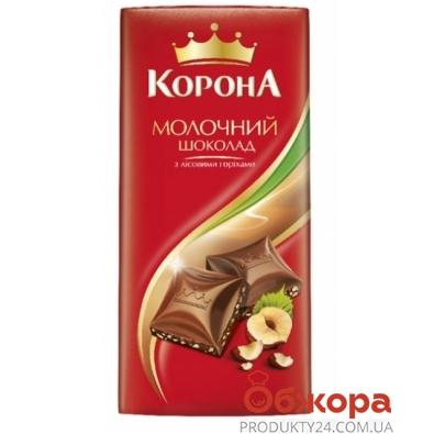 Шоколад Корона молочный с орехом 100 г – ИМ «Обжора»