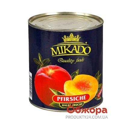 Персики Микадо (Mikado) половинки 850 г – ИМ «Обжора»