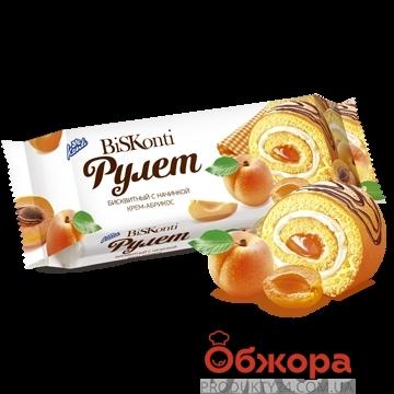 Рулет Конти (Konti) крем-абрикос 200 г – ИМ «Обжора»