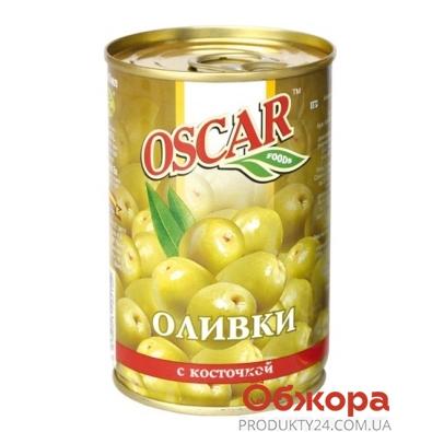 Оливки Оскар (Oscar) с косточкой 300 гр. – ИМ «Обжора»