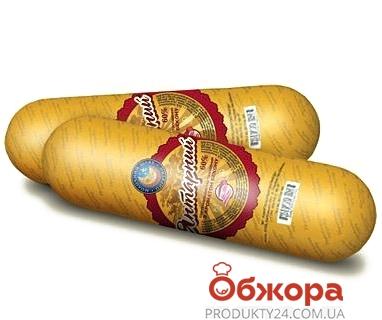 Сыр колбасный плавленый Пирятин Янтарный с беконом 60% – ИМ «Обжора»