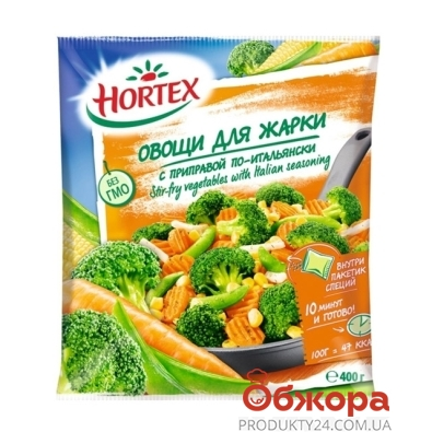 Зам.Овочі Хортекс 400гр д/смаж з припр. По-Італійські – ІМ «Обжора»