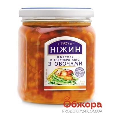 Фасоль Нежин в томатном соусе с овощами 450 мл – ИМ «Обжора»