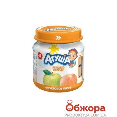 Пюре Агуша Яблочно-персиковое 115 г – ИМ «Обжора»