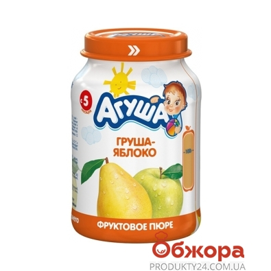 Пюре Агуша Грушево-яблочное 200 г – ИМ «Обжора»
