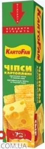 Чипсы КартоФан Сыр 60гр – ИМ «Обжора»