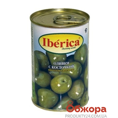 Оливки Иберика (Iberica) с косточкой 300 гр. – ИМ «Обжора»