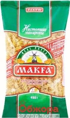 "Макароны Макфа ""Спирали"" 450г – ИМ «Обжора»"