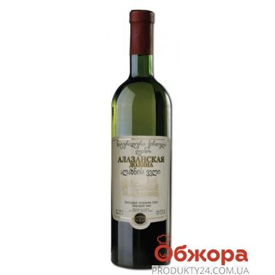 """Вино грузинское Заря Кахети """"Алазанская долина"""" белое 0,75 л. – ИМ «Обжора»"""