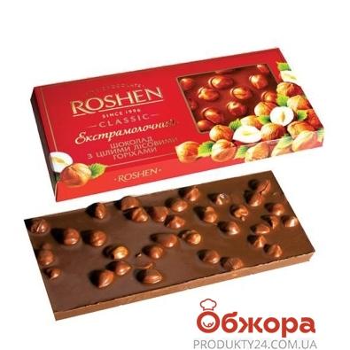 Шоколад Рошен экстрамолочный с целым орехом 100 г – ИМ «Обжора»