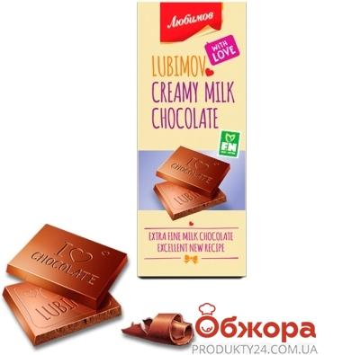 Шоколад Любимов молочный 85 г – ИМ «Обжора»