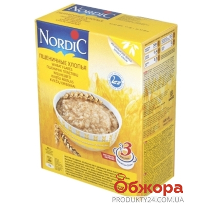 Нордик пшеничные хлопья 600 гр. – ИМ «Обжора»