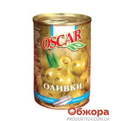 Оливки Оскар c анчоусом, железная банка 300 гр. – ИМ «Обжора»