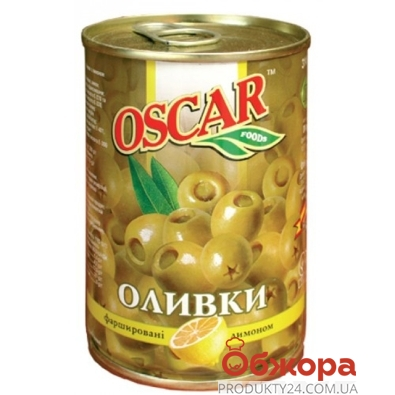 Оливки Оскар (Oscar) с лимоном 300 г – ИМ «Обжора»