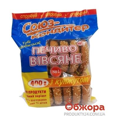 Печенье Союз-кондитер овсяное с кунжутом 400 г – ИМ «Обжора»
