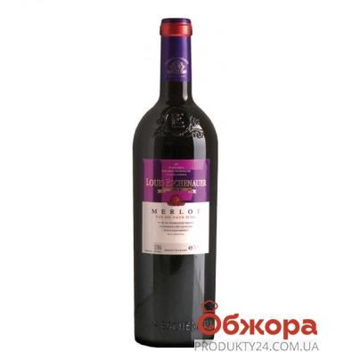 Вино Луи Эшенауэр (Louis Eschenauer) д`Ок Мерло красное сухое 0.75 л – ИМ «Обжора»