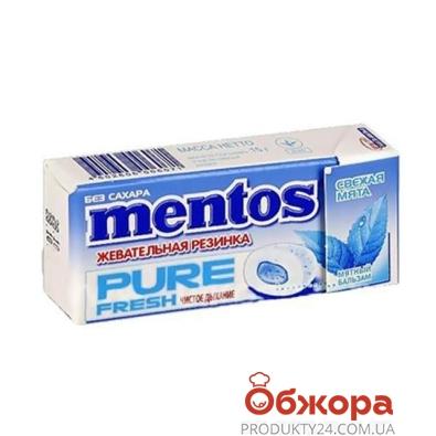 Жевательная резинка Ментос Пью Фреш мята 15 г – ИМ «Обжора»