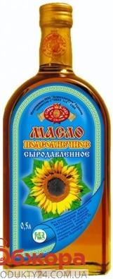 Подсолнечное масло Агросельпром сыродавленое первого отжима 0,5 л – ИМ «Обжора»