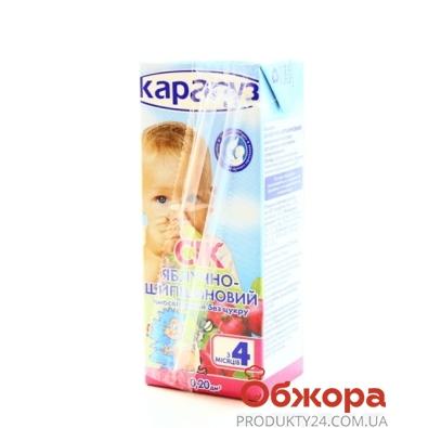 Сок Карапуз Яблоко-шиповник 200 г – ИМ «Обжора»