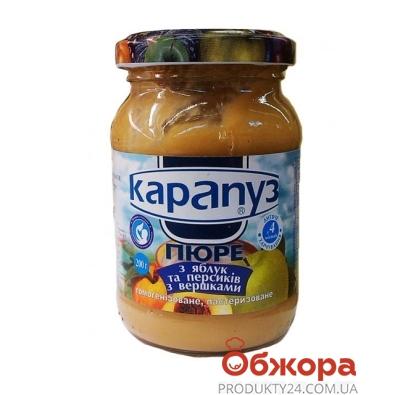 Пюре Карапуз Яблоко-персик-сливки 200 г – ИМ «Обжора»