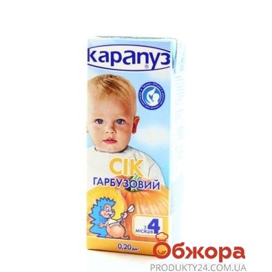 Сок Карапуз Тыквенный 200 г – ИМ «Обжора»