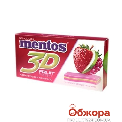 Жевательная резинка Ментос 3D клубника-яблоко-малина 33,6 г. – ИМ «Обжора»