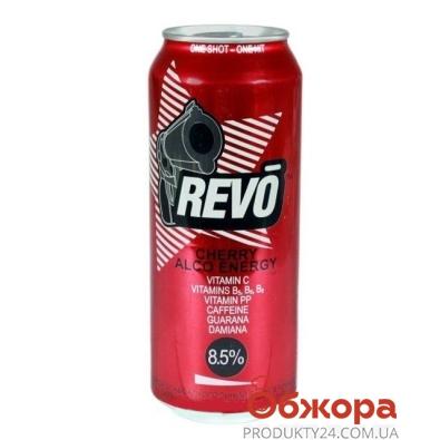 Напиток энергетический Рево (Revo) 0,5 л 8.2% Вишня – ИМ «Обжора»