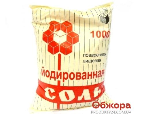 Соль 1кг каменная йод.Артемсоль – ИМ «Обжора»