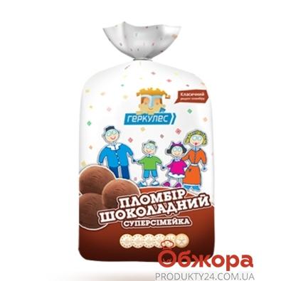 Мороженое Геркулес Суперсемейка Пломбир пласт 1 кг. Шоколад – ИМ «Обжора»