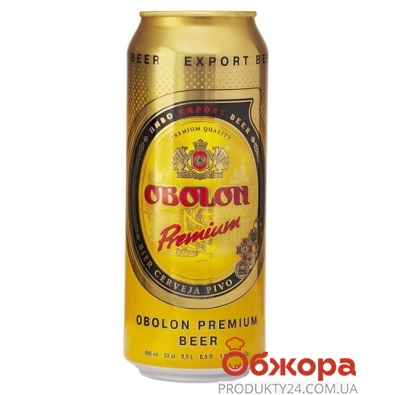 Пиво Оболонь Премиум 0.5 л – ИМ «Обжора»