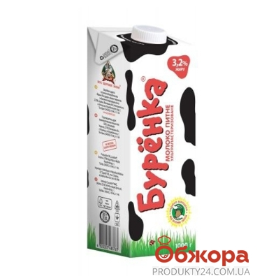 Молоко Буренка 3,2% 1л – ИМ «Обжора»