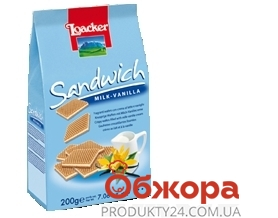 Вафли Лоакер (Loacker) Сендвич ваниль 200 г – ИМ «Обжора»