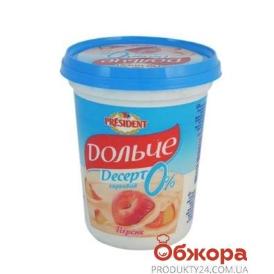 Десерт творожный Дольче персик 0% 400 г – ИМ «Обжора»