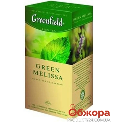 Чай Гринфилд 25 пакетиков Грин Мелиса – ИМ «Обжора»