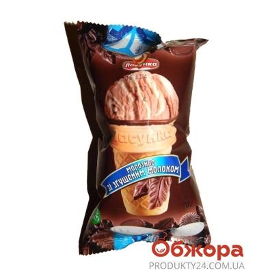 Мороженое Ласунка Пломбир шоколадный со сгущеным молоком 70 г – ИМ «Обжора»
