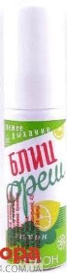 """Биокон """"Блиц-фреш"""" освежитель для полости рта, лимон. – ИМ «Обжора»"""